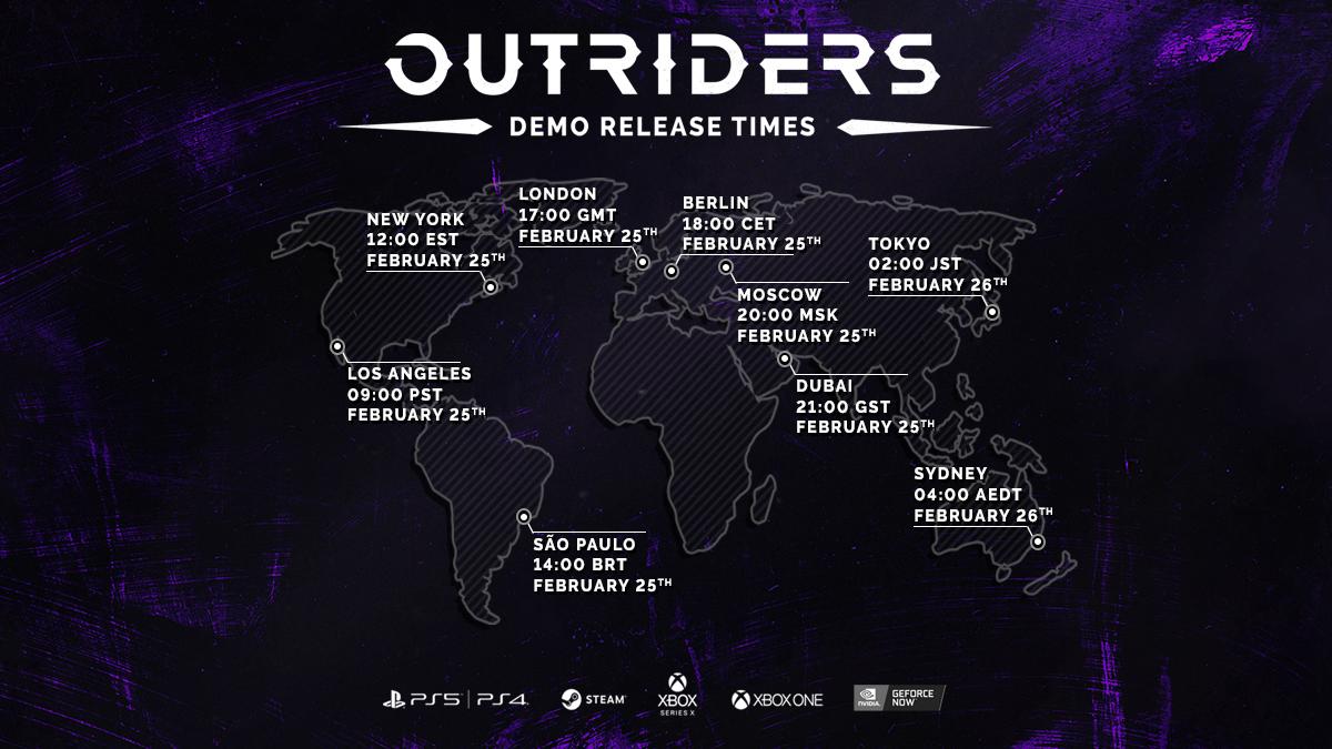 Outriders demo voor PC, PS en Xbox