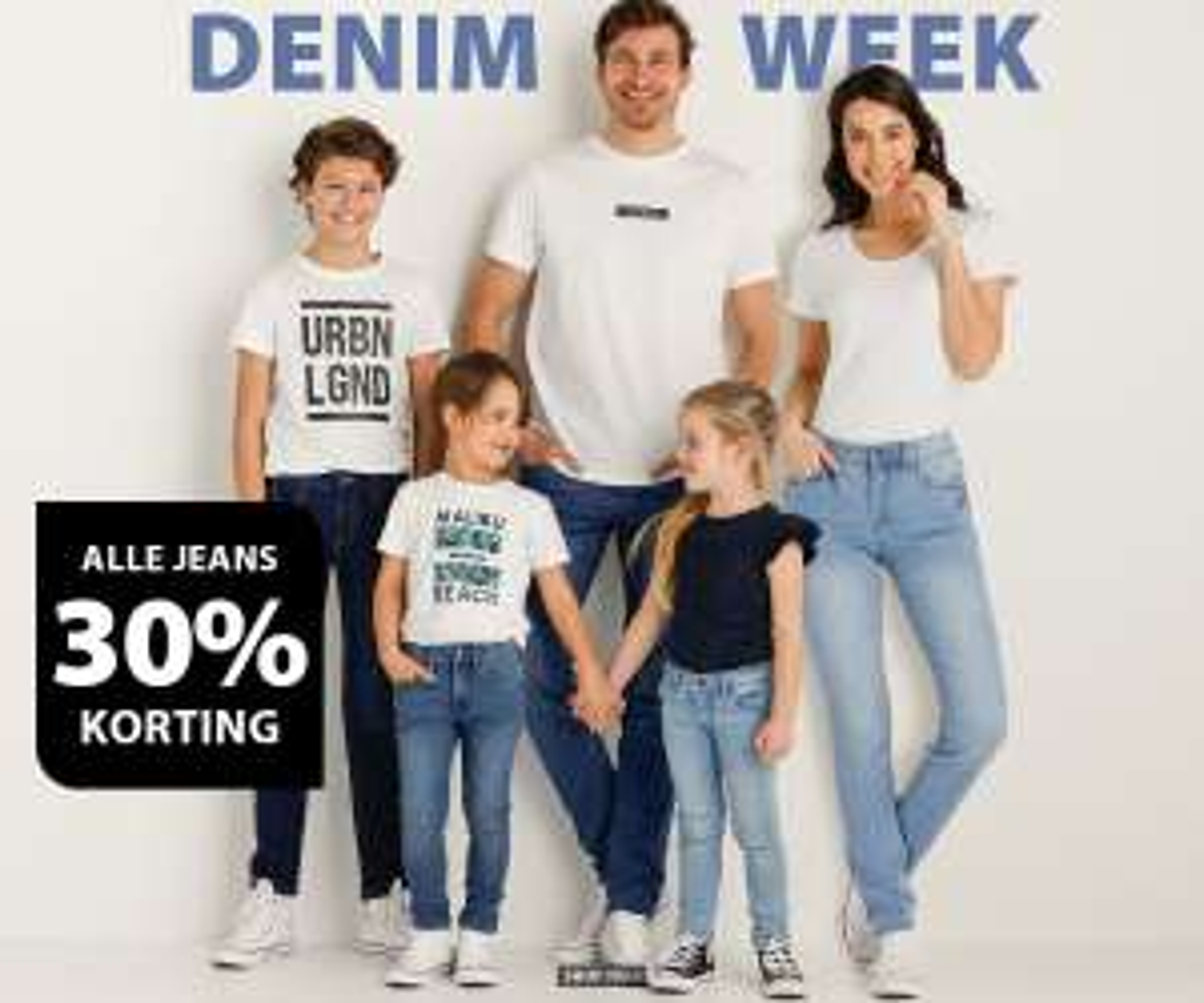 Alle jeans -30% + 15% extra met code [va €50]
