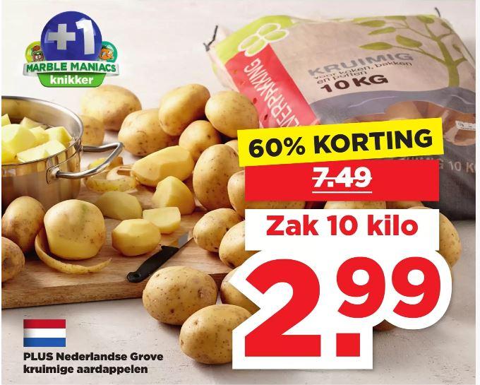 PLUS 10 kilo Nederlandse Grove kruimige aardappelen