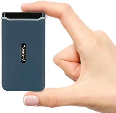 Transcend ESD350C 960GB externe SSD Blauw bij Amazon NL