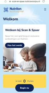 Nutrilon scan en spaar 1 code is €1