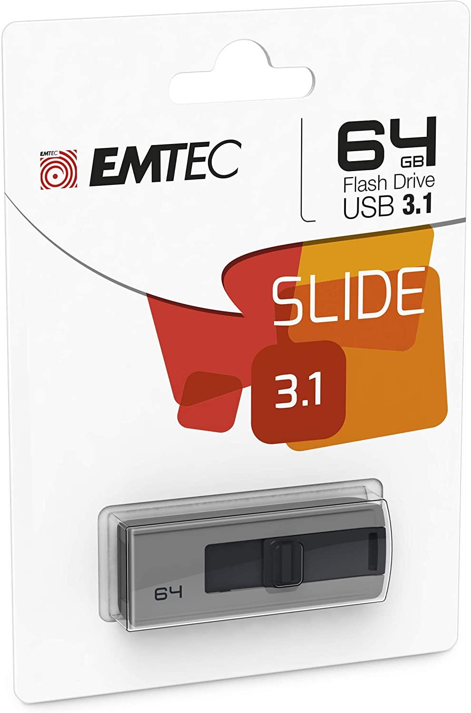 Emtec B250 Slide 64GB 3.1 USB Stick @ Amazon.nl