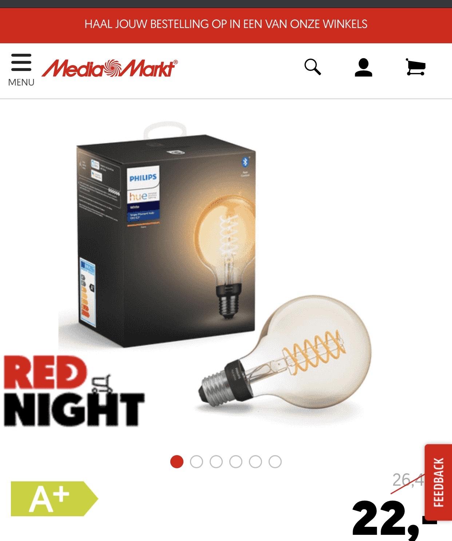 Philips Hue Filament @ Media Markt Red Night(tot morgenochtend 10:00)