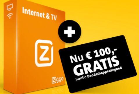 diverse kortingen + €100 Jumbo boodschappentegoed voor nieuwe Ziggo klanten @ Jumbo