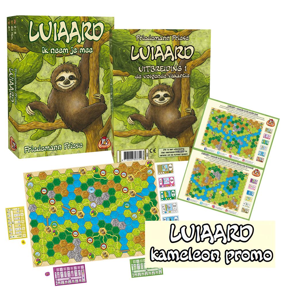Spellenpakket 'Luiaard' voor €29,95 (basisspel, uitbreiding + extra's) @ White Goblin Games