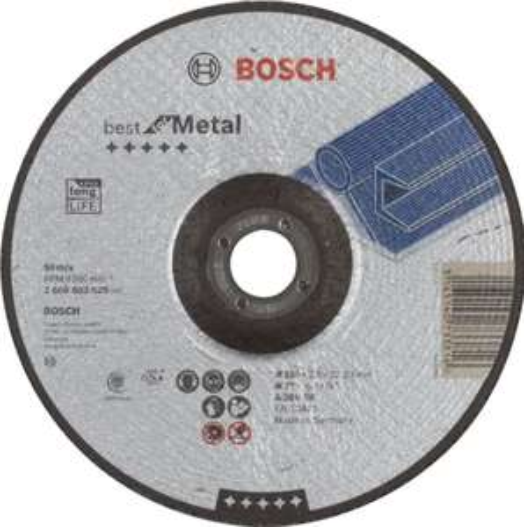 Bosch doorslijpschijf met naafhak, A 30 V BF 180 mm 2,5 mm grijs.