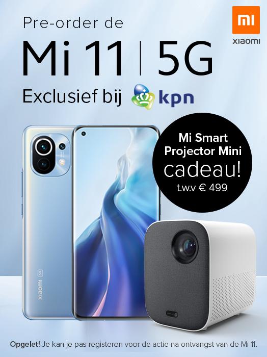 Xiaomi Mi 11 acties voor Nederland/België (o.a. Mi Smart Projector Mini t.w.v. €499 bij KPN)