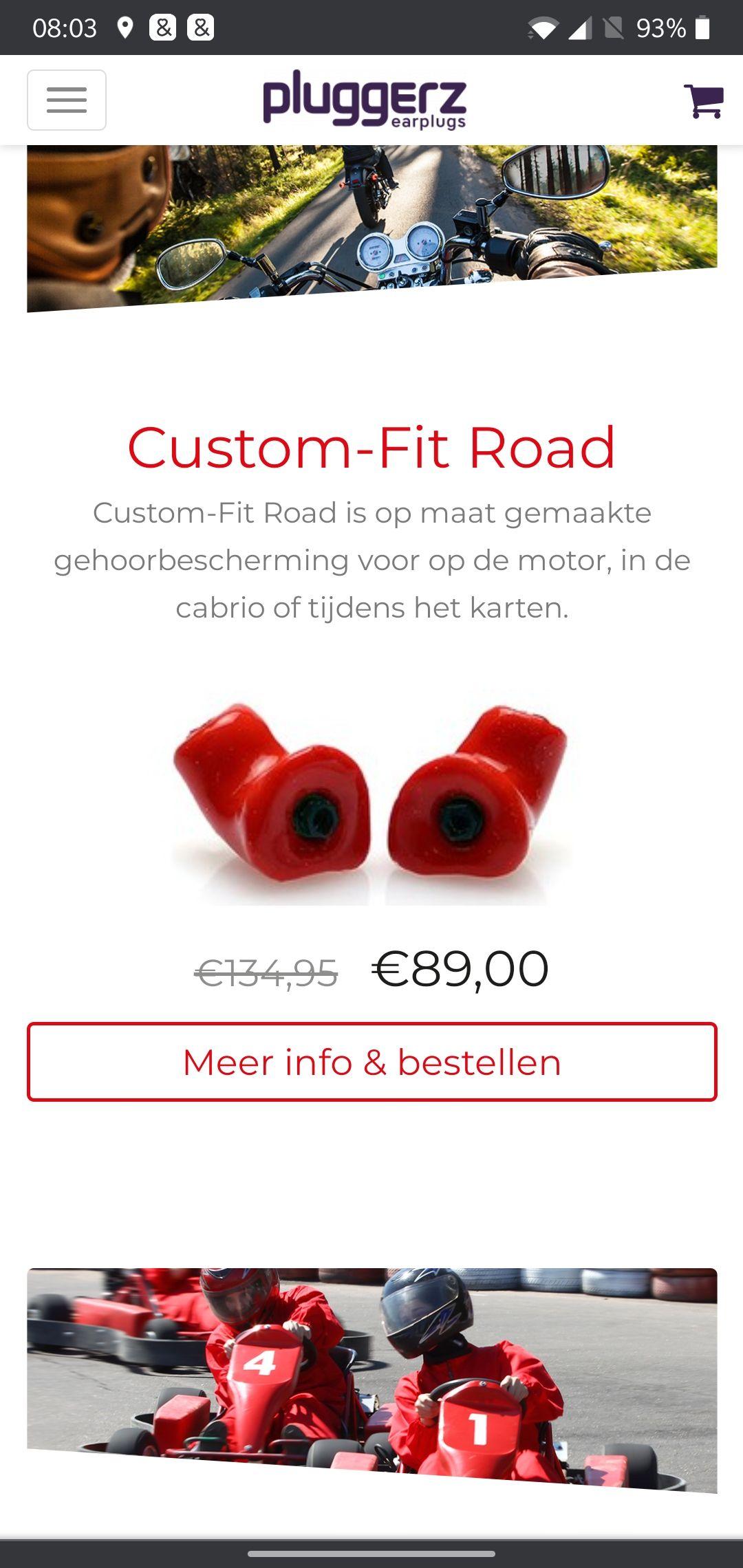 Pluggerz Costum Fit-Road