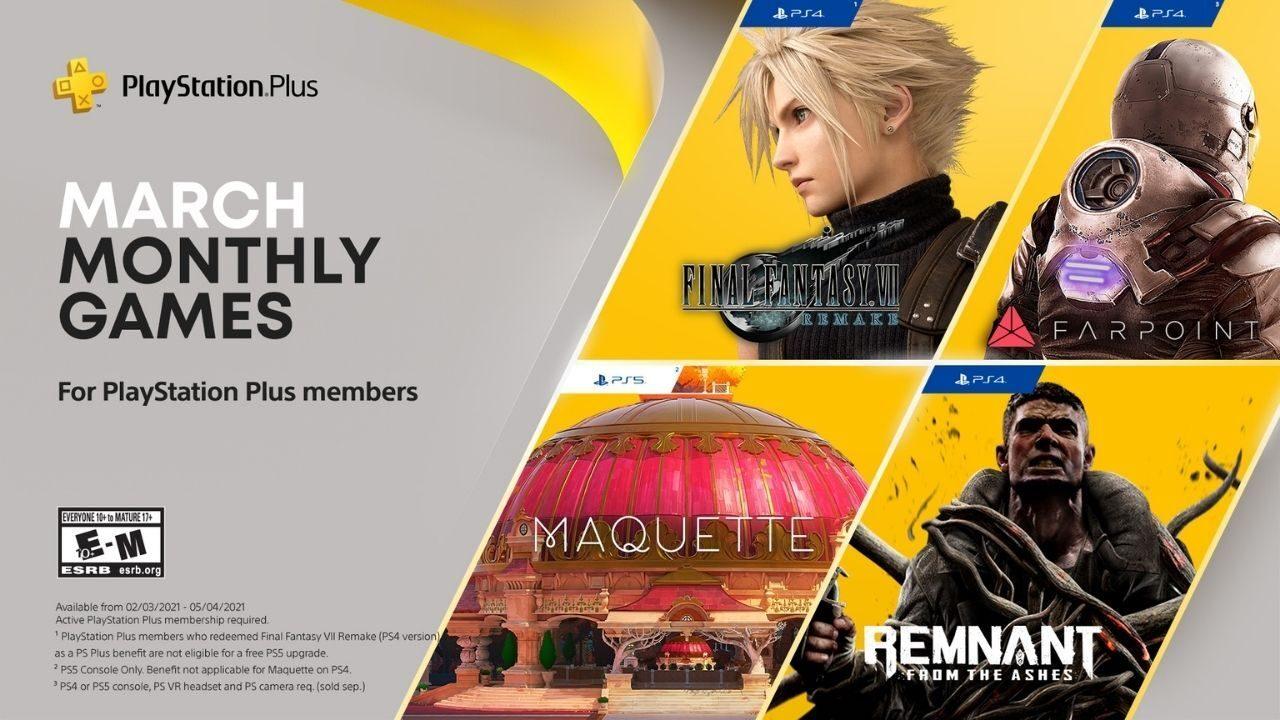 Playstation Plus Games - Maart 2021