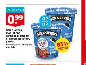 Ben & Jerry's Moo-phoria Caramel Cookie Fix of Chocolate Cherry Garcia 99 cent Hoogvliet