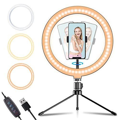 APEXEL Selfie led ring light with adjustable tripod voor €12,59 @ Amazon.DE