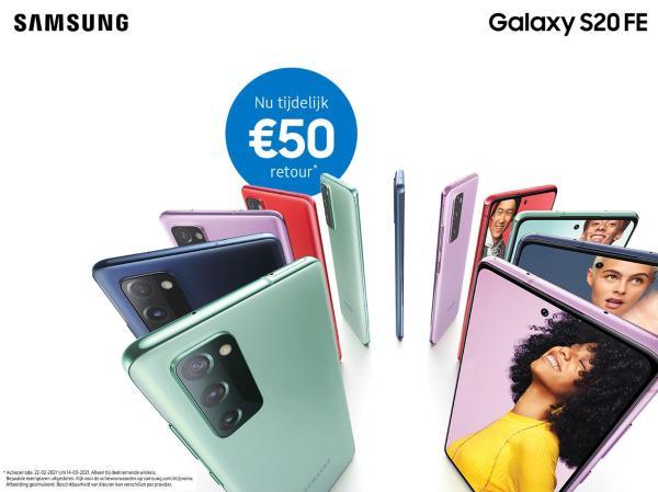 Galaxy S20FE: 15% ING Korting + €50 extra voordeel