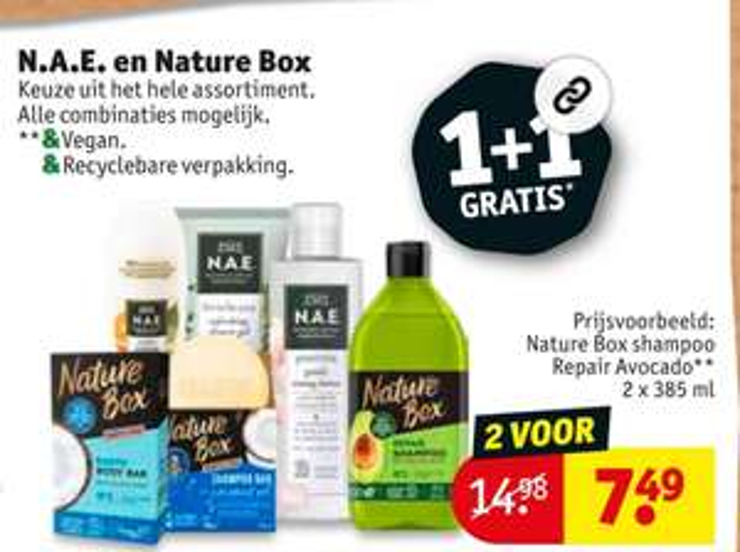 1+1 Gratis Nature Box & N.A.E.