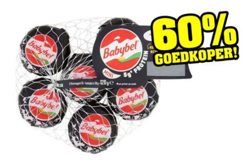 Babybel Mini Protein 6 kaasjes (25+) van €2,50 voor €1 @ Budget-food