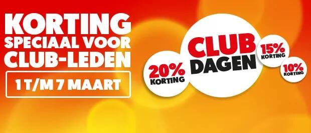 Club-dagen van 1 t/m 7 maart @ Mediamarkt