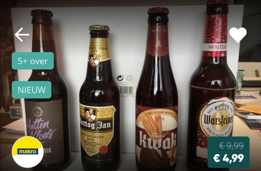 Pakket met 10 flesjes bier voor €5 @ Makro Duiven (50% korting)