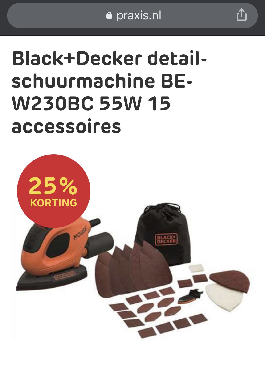 Black+Decker detail schuurmachine met accessoires