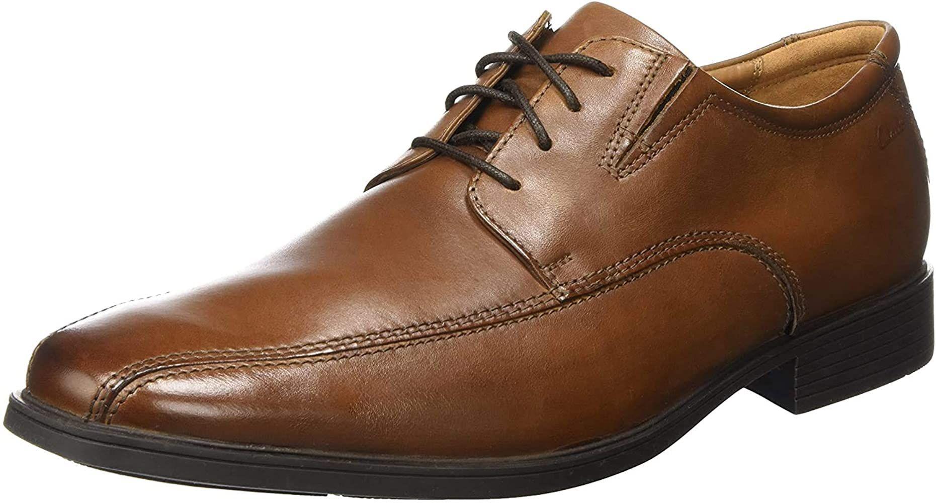 Clarks Tilden Walk Cognac veterschoenen voor heren