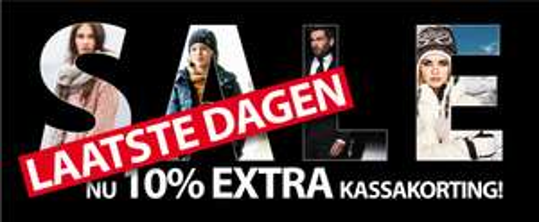 10% EXTRA korting op alle sale @ Voorwinden