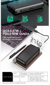 BlitzWolf® BW-P14 60W 74Wh 20000mAh Power Bank Fast charge