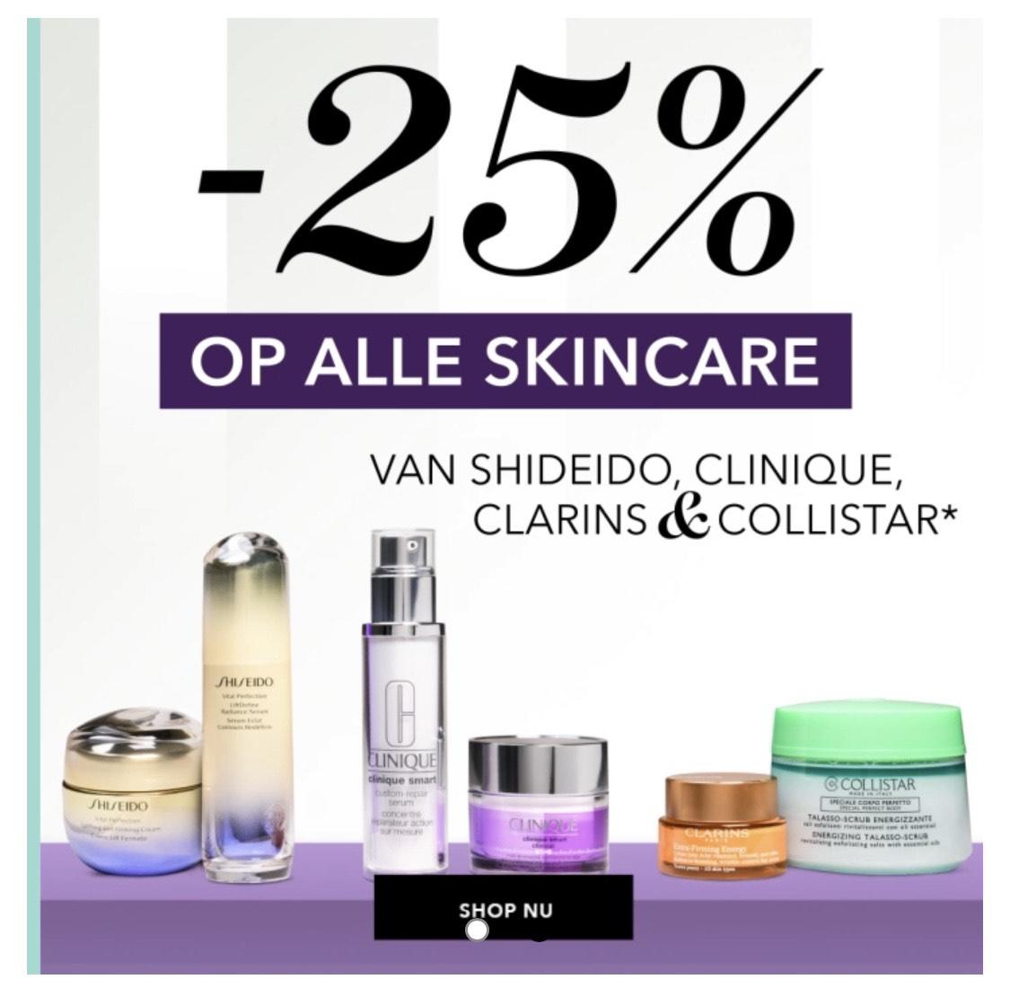 25% korting op verschillende skincare bij DOUGLAS!
