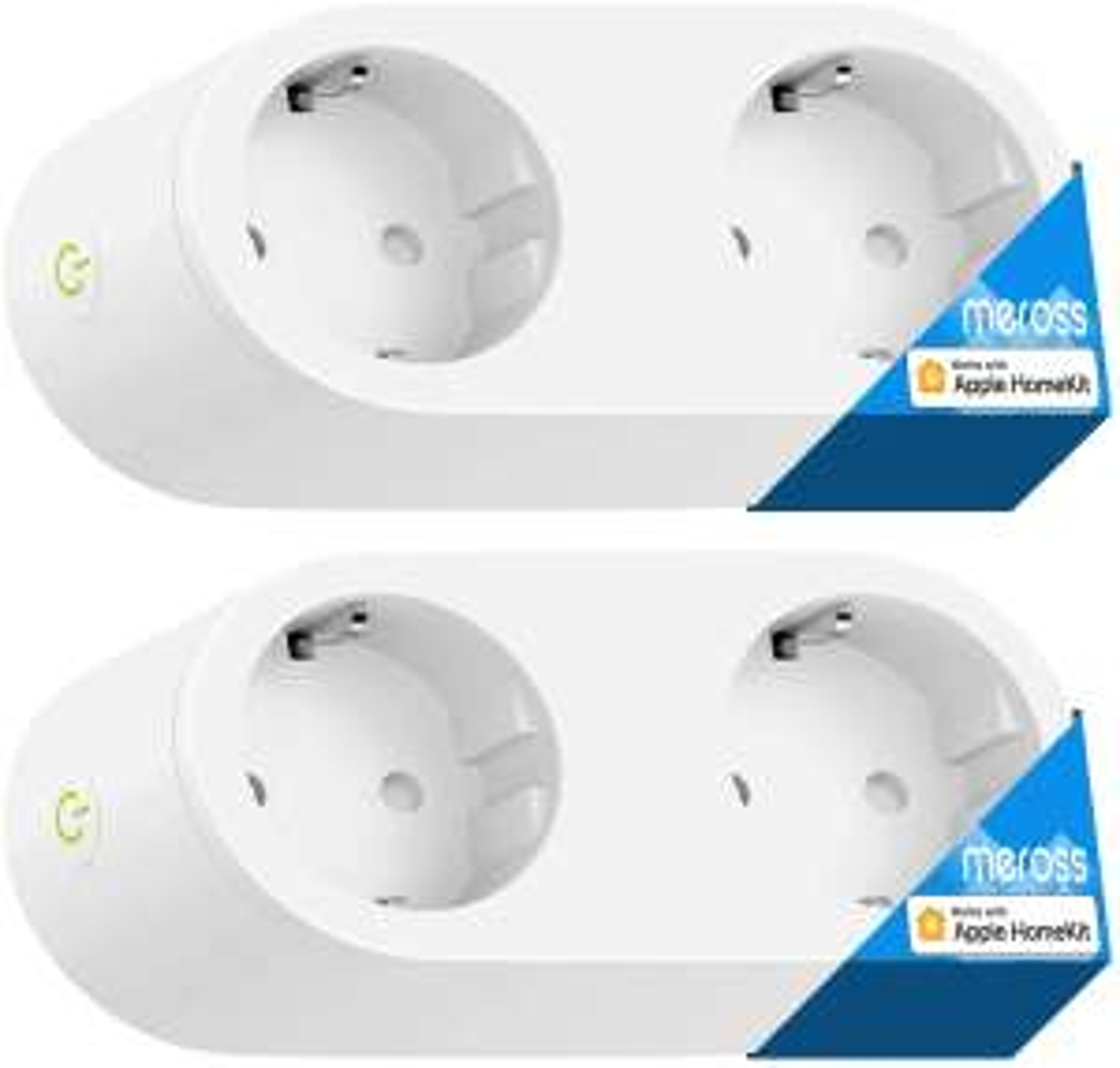 [2 stuks] Meross slimme dubbele WLAN-stekker (Apple Homekit, Alexa, Google Assistent) voor €37,49 @ Amazon NL
