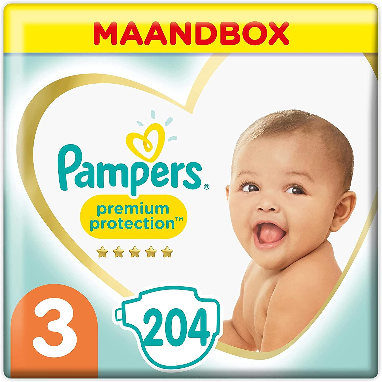 Pampers 204 luiers voor €20,12 (Maat 3) @Amazon.nl