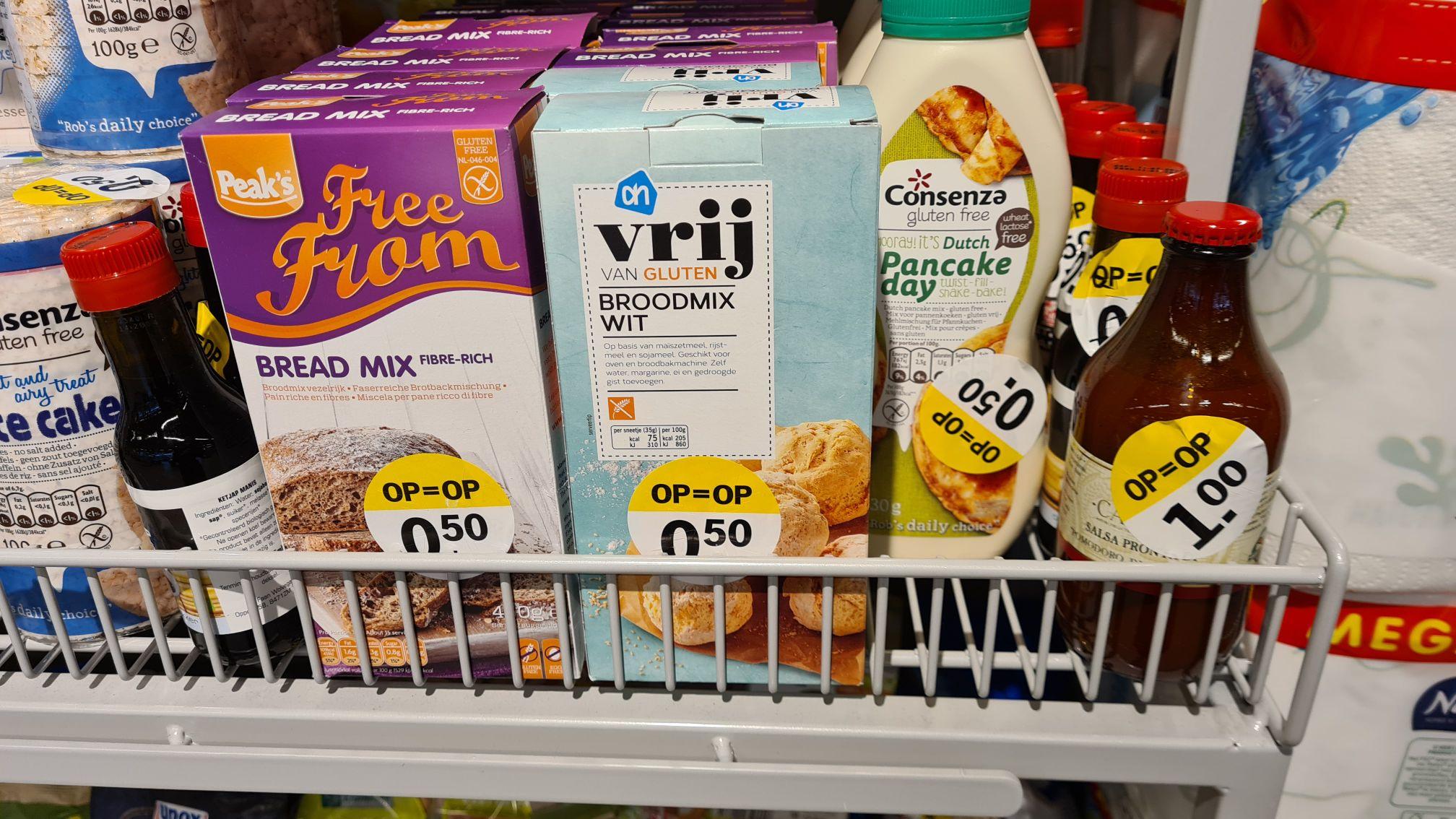 Diverse Glutenvrije producten bij AH XL voor €0,50