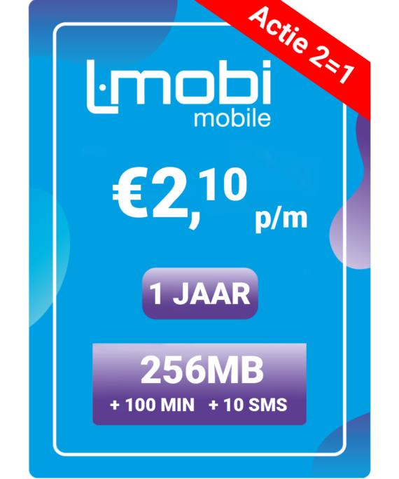L-mobi korting: jaarbundel € 24,95 + tijdelijk 2 halen één betalen!