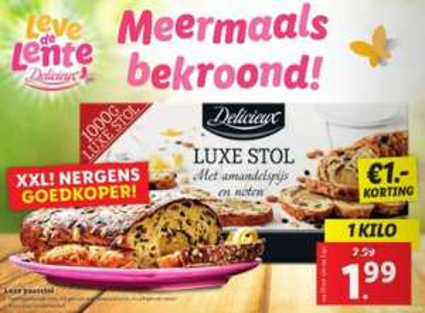 Luxe Paasstol (1kg) van €3 voor €2 @ Lidl