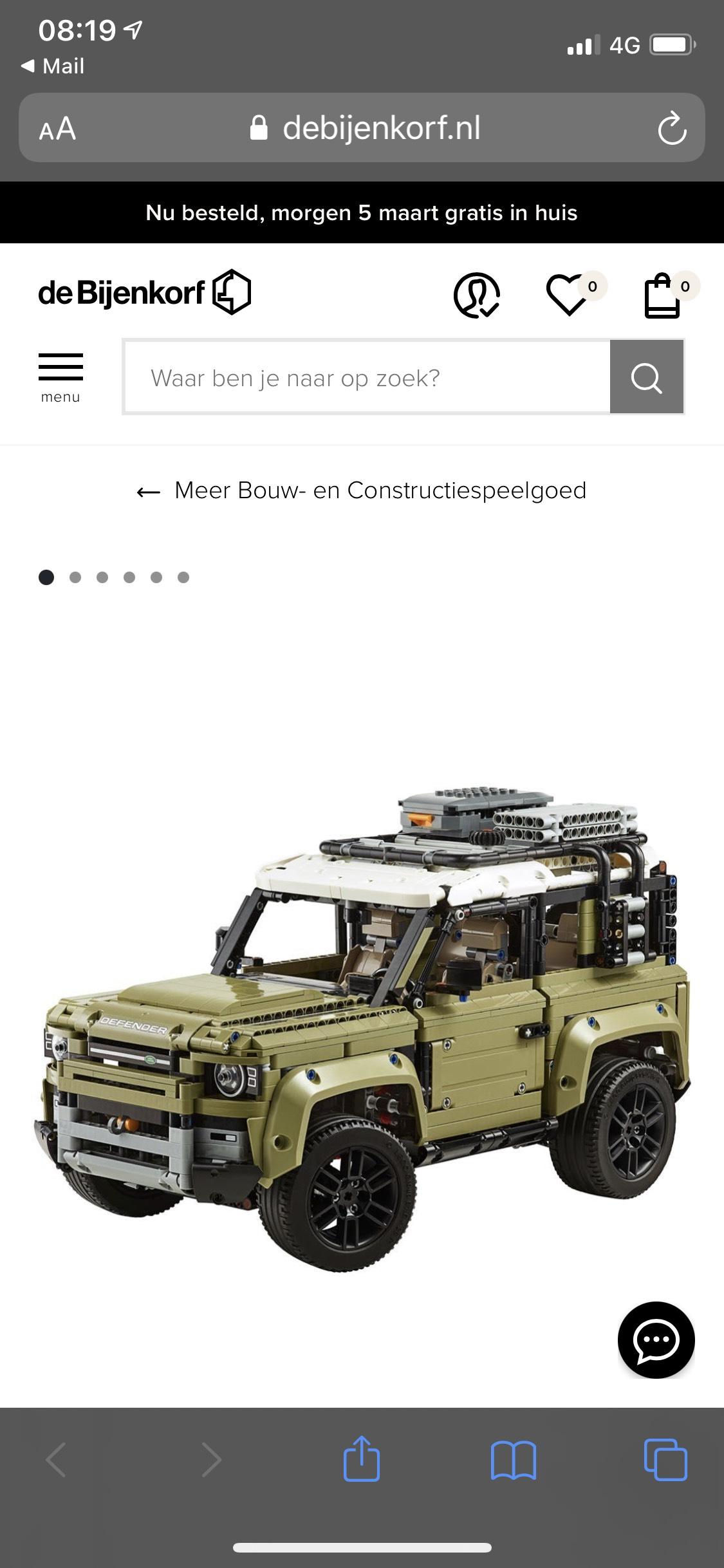 LEGO Technic Land Rover Defender - 42110 goedkoopste ooit! (ING punten nodig!)