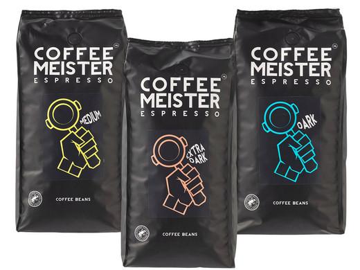 CoffeeMeister Espressobonen Combi   3 kg