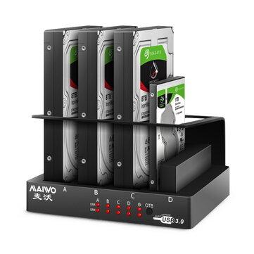 MAIWO 2.5/3.5-inch 4-slot SATA behuizing USB 3.0 - verzonden uit Tsjechië