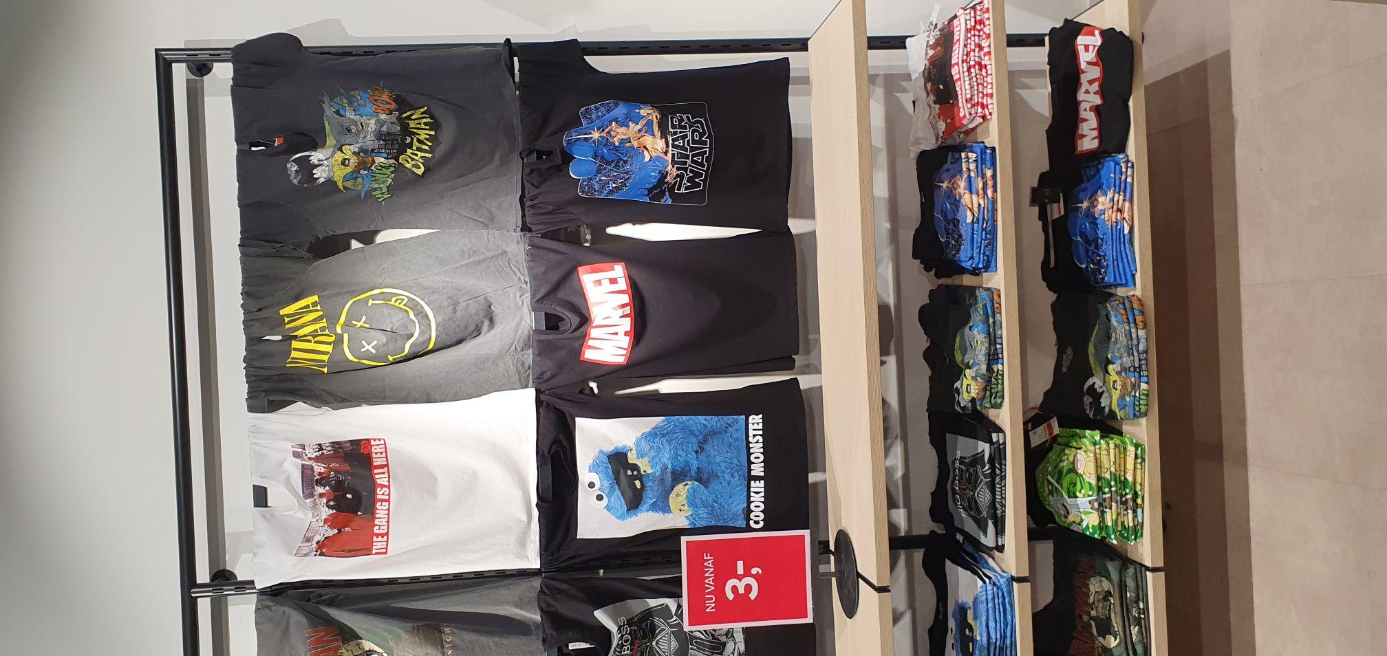 C&A Den bosch: License T-shirts van 12,99 voor 3 euro