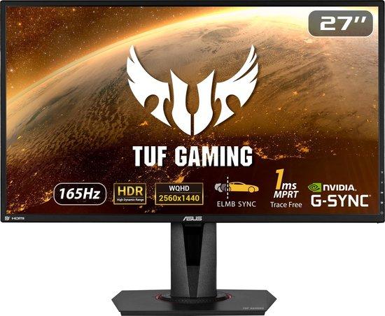 """ASUS TUF VG27AQ 27"""" IPS monitor, Freesync, G-sync compatible, 2560x1440p. (Mediamarkt/Bol/Amazon)"""