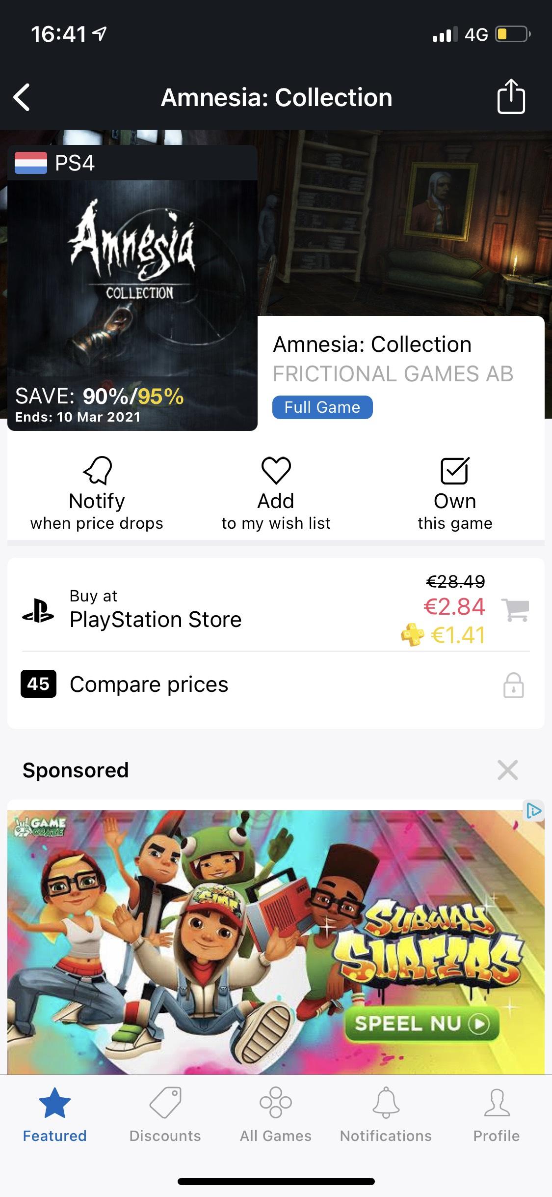 Flinke korting op Amnesia: Collection in de PS Store