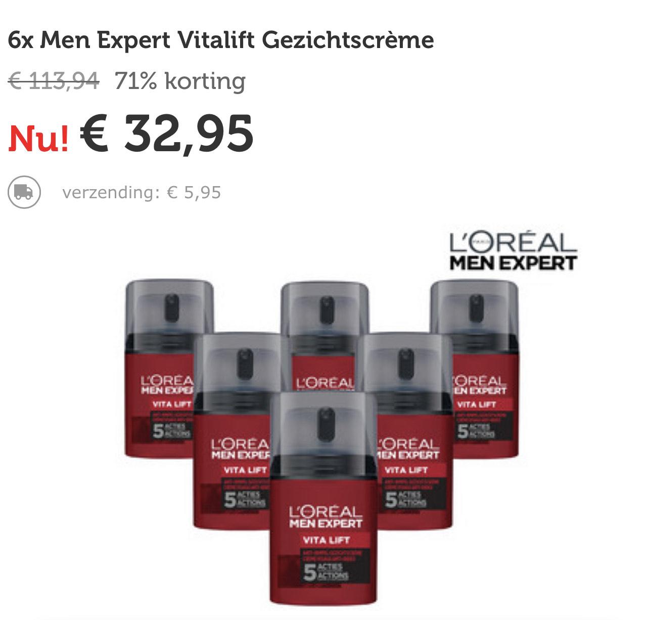 6x L'Oréal Men Expert Vita Lift