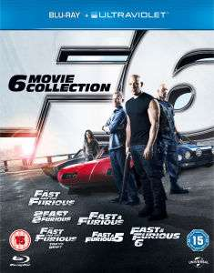 Fast and Furious boxset (The 6 Movie Collection) (Blu-ray) voor €18,44 @ Zavvi