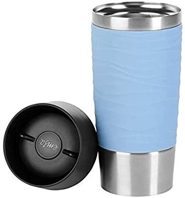 EMSA N2010700 Travel Mug Waves Thermosbeker, 360 ml, Roestvrij Staal, Poederblauw