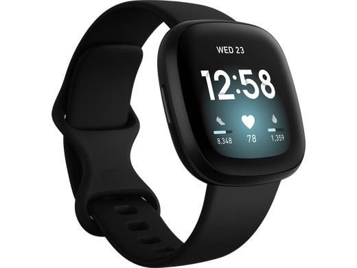 Fitbit Versa 3 Smartwatch Zwart @ iBOOD