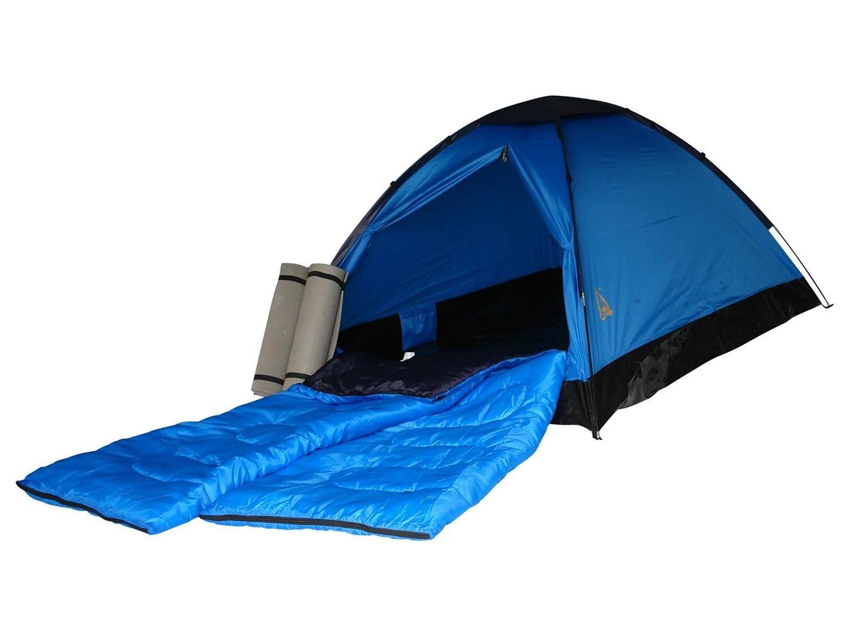 Best Camp tent + 2 slaapzakken + 2 matjes