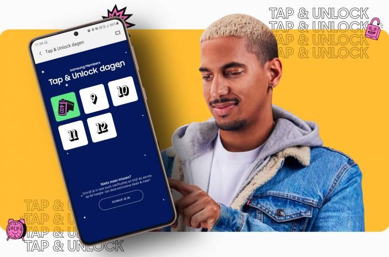 Tap & Unlock Dagen in de Samsung Members app (8 Maart verstuur je een gratis kaart via Kaart2Go)
