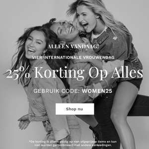 25% korting @ the founded (was bestseller met o.a. only vera moda e.a.)