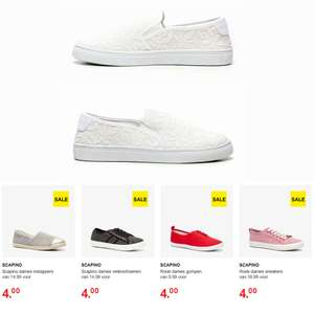 Canvas dames schoenen [waren €14,99] + meer modellen voor €4