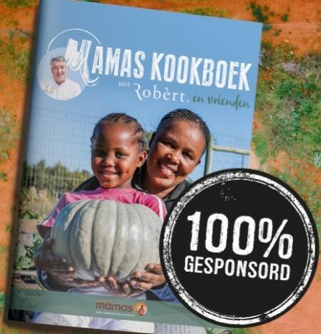 Kookboek van Robert van Beckhoven bij donatie van €7 aan Kinderfonds MAMAS