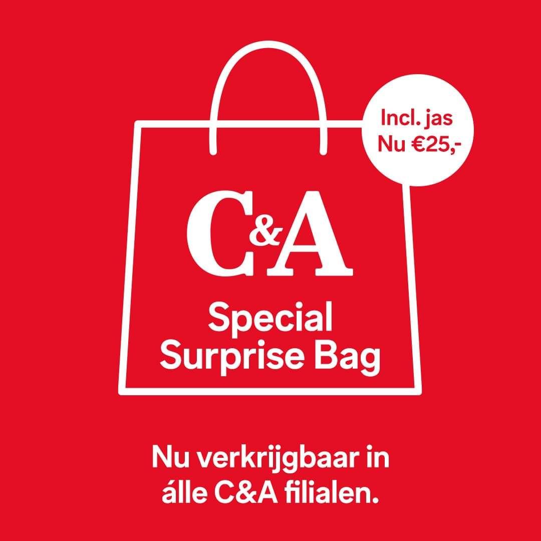 NIEUW: de C&A Special Surprise Bag met jas voor maar 25,-