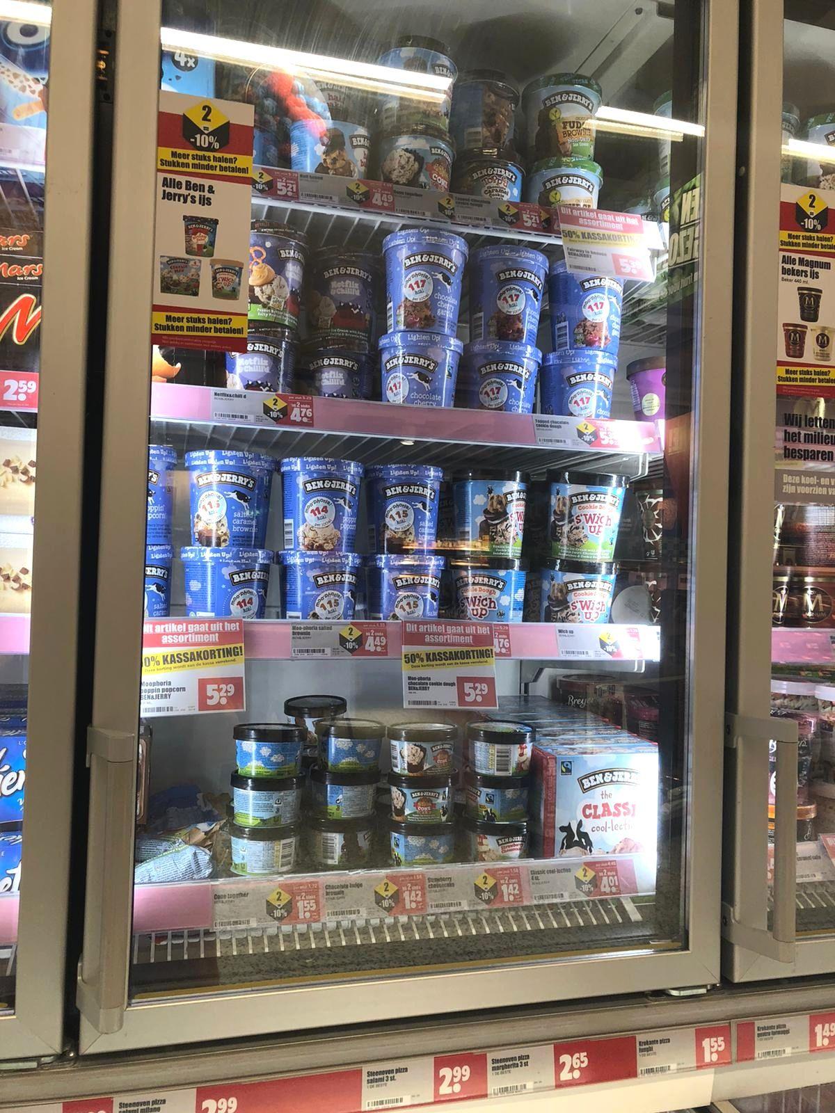 50% korting op geselecteerde Ben & Jerry's ijs