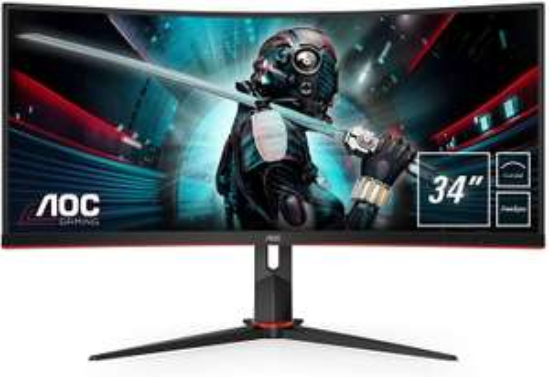 AOC CU34G2/BK Ultrawide 100hz monitor (Rood, Zwart)