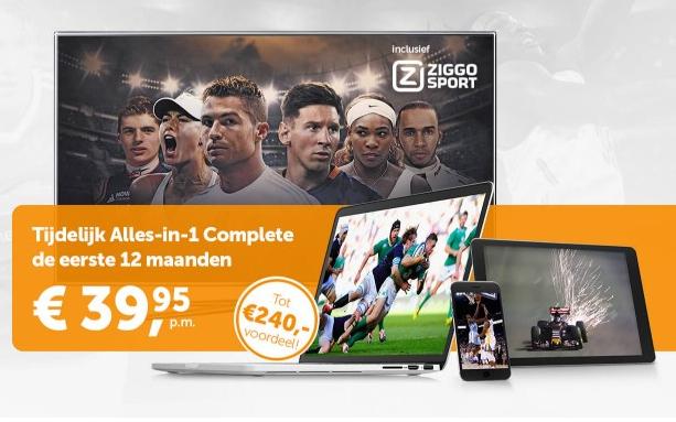 12 maanden Alles-in-1 Complete voor €39,95 per maand @ Ziggo