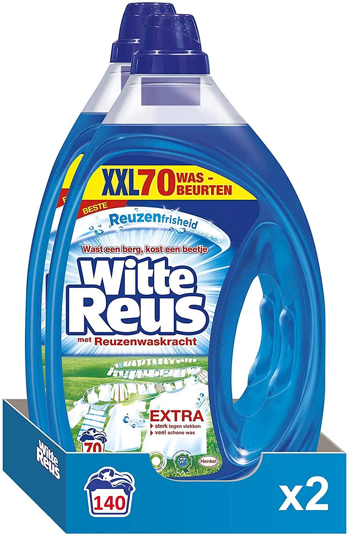 Witte Reus Gel Vloeibaar Wasmiddel, Witte Was, 140 (2 x 70) wasbeurten Voordeelverpakking